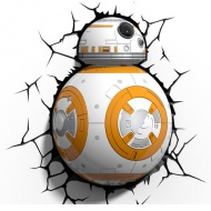 Star Wars BB-8 Droid 3D LED lampă de perete