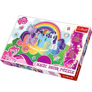 My Little Pony puzzle fluorescent cu 15piese