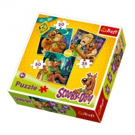 Scooby Doo puzzle 3in1 cu 20-36-50 piese - Trefl