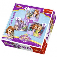 Sofia Princess 3 in 1 puzzle - Trefl
