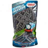 Thomas Track Master: Switches and Turnouts Track Pack 5 bucăţi - Mattel