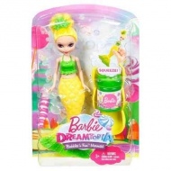 Barbie: Dreamtopia Bubbles mini sirenă păpuşă galbenă