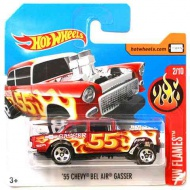 Hot Wheels: '55 Chevy Bel Air Gasser maşină roşie 1/64 - Mattel