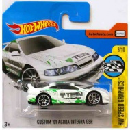 Hot Wheels: Custom '01 Acura Integra GSR maşină albă 1/64 - Mattel