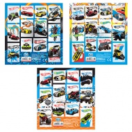 Hot Wheels set de 12 bucati abtibild - in mai multe variante