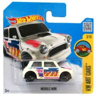 Hot Wheels: Morris Mini maşină albă 1/64 - Mattel