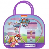 Paw Patrol: Skye si Everest set bijuterie si decoratie par set 20 bucati in geanta