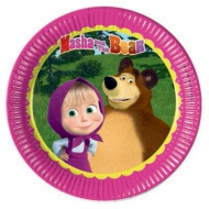 Masha and the bear party set farfurie 23 cm set 8 bucăţi
