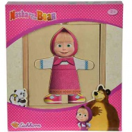Masha and the bear: Masha puzzle care se poate îmbrăca - Simba Toys