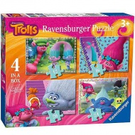 Trolls 4 in 1 puzzle - Ravensburger
